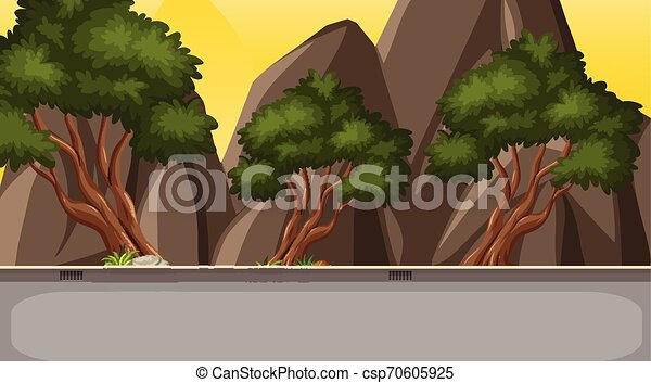 Una simple escena de carretera - csp70605925