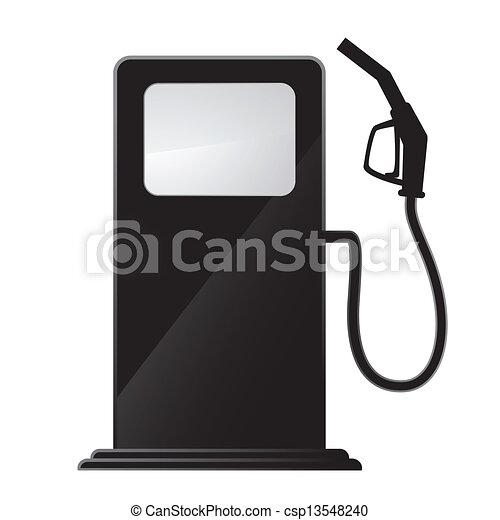 Simple icono de la gasolinera - csp13548240
