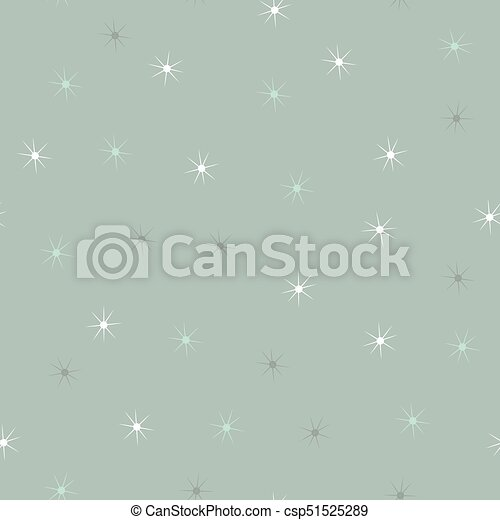 Simple falling snowflakes or stars seamless pattern - csp51525289