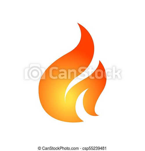 Simple fire vector design template. can be used for logo,... vector ...