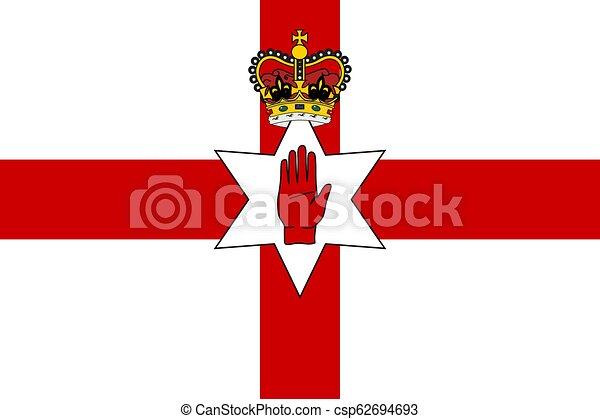 Simple flag of Northern Ireland - csp62694693
