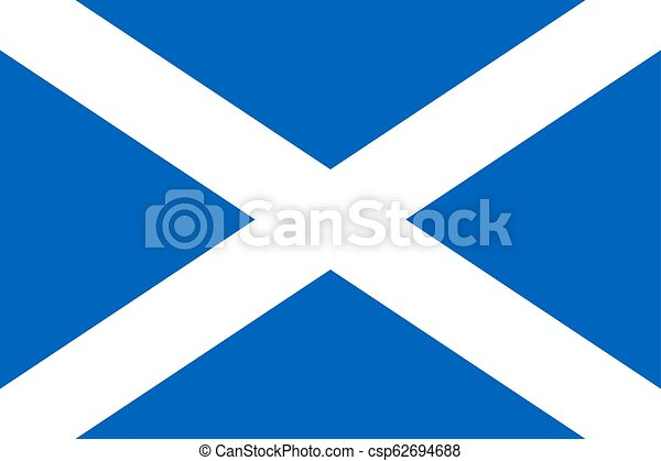 Simple flag of Scotland - csp62694688