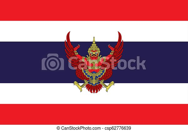 Simple flag with coat of arms - csp62776639