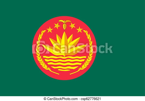 Simple flag with coat of arms - csp62776621