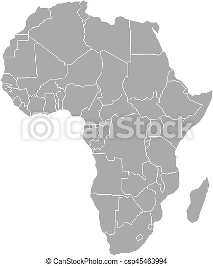 Simple flat grey map of Africa continent with national borders isolated on map of earth illustration, map of egypt illustration, map of japan illustration, map of zambia illustration, map of united states illustration, map of ancient greece illustration, world map illustration, map of italy illustration,