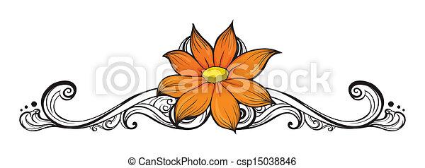 simple, fleur, frontière - csp15038846