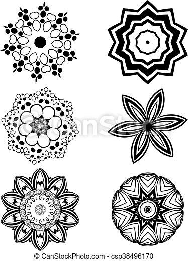 Simple Fleurs Blanches Noir