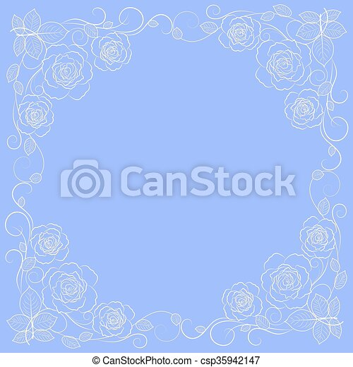 Simple Floral Frame In White