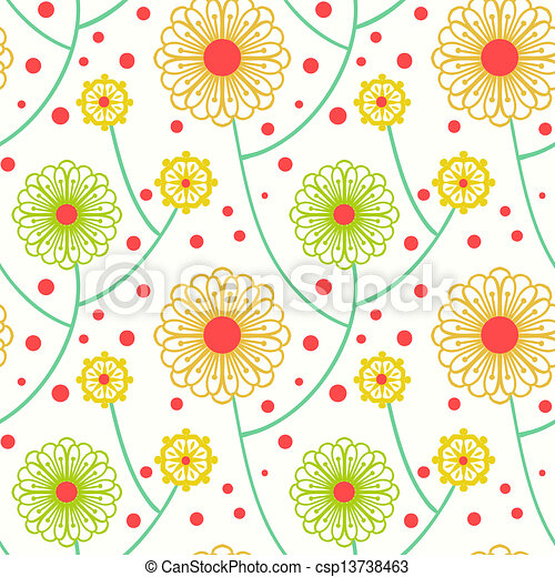 Simple floral pattern with bold flowers simple floral ornamented simple floral pattern with bold flowers csp13738463 thecheapjerseys Choice Image
