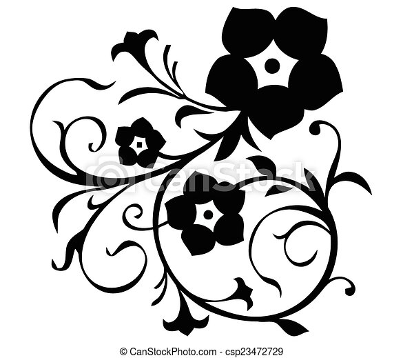 Simple Flower Motif 23472729 on simple tattoo designs