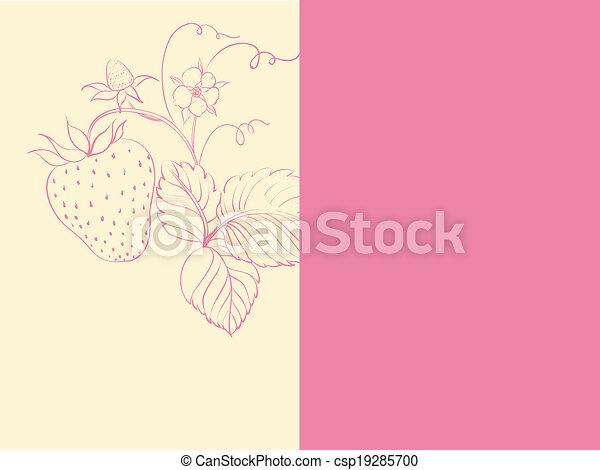 Una simple cubierta de fresa. - csp19285700