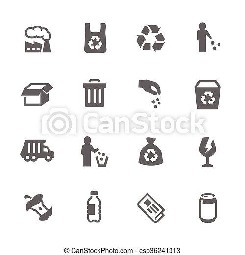 Simple Garbage Icons - csp36241313