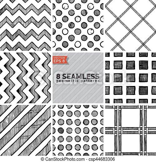 Simple Geometric Pattern   Csp44683306