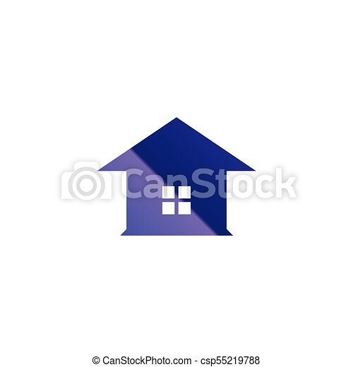simple glassy purple house logo template vector