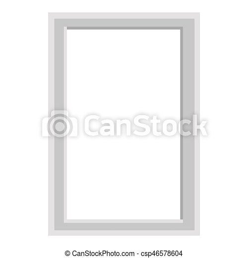Simple grey square frame isolated illustration. Simple grey frame ...