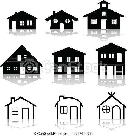 simple house illustrations