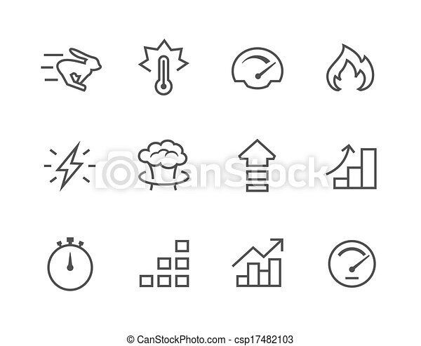 Simple Icon set related to Performance - csp17482103