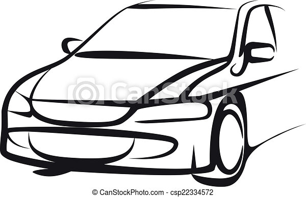 Simple illustration with a car - csp22334572