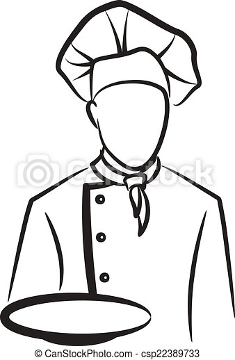 simple illustration with a chef - csp22389733