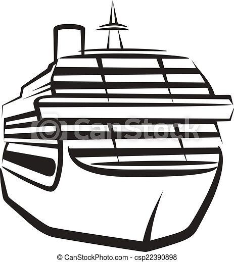 simple illustration with a ship - csp22390898