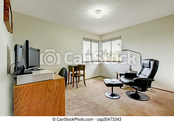 Simple intérieur salle bureau salle bureau meublé floor