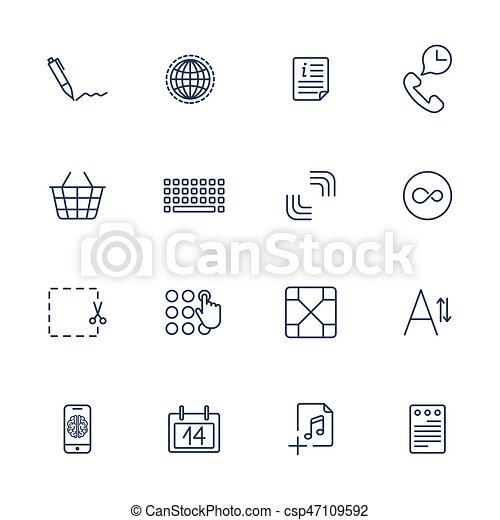 Simple internet icons set universal internet icons set of 16 simple internet icons set universal internet icons csp47109592 ccuart Gallery