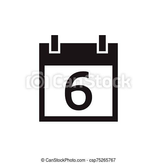 simple kalender icon black color - csp75265767