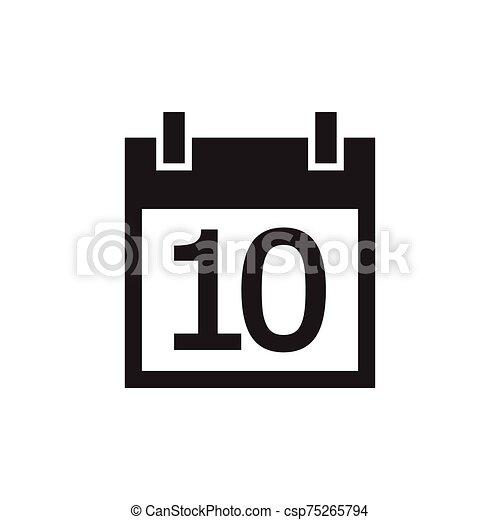 simple kalender icon black color - csp75265794