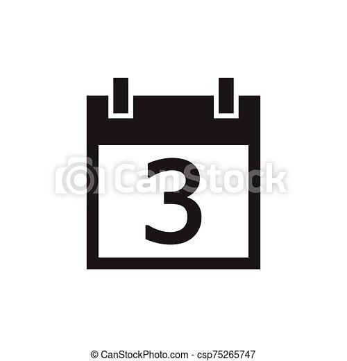 simple kalender icon black color - csp75265747