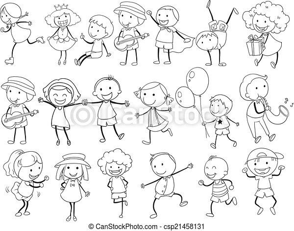 simple kids doodle csp21458131