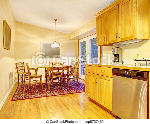 Simple Kitchen And Dining Room Area