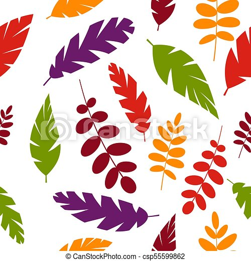 Simple Leaves Pattern Simple Leaves Pattern Isolated On White Background Vector Illustration Eps 10