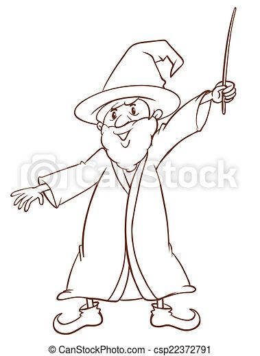 Simple magicien dessin simple magicien illustration - Magicien dessin ...