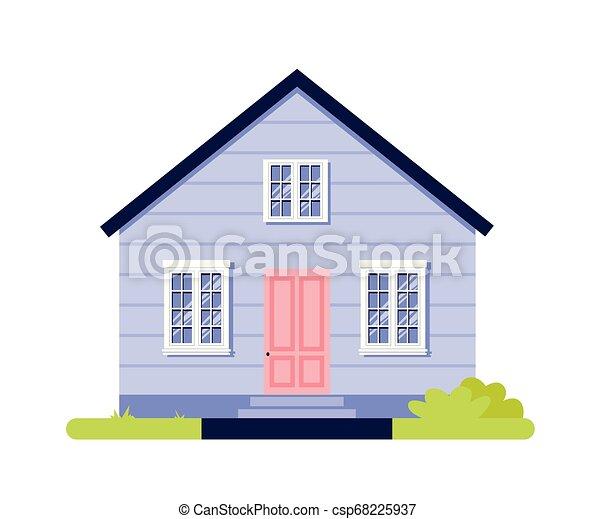 Simple Maison Isole Illustration Vecteur Dessin Anime Icone Simple Maison Isole Illustration Vecteur Fond Blanc Canstock