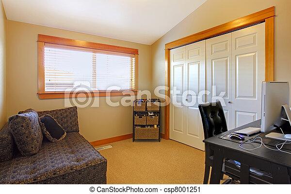 Simple maison salle bureau interior maison sofa bureau table