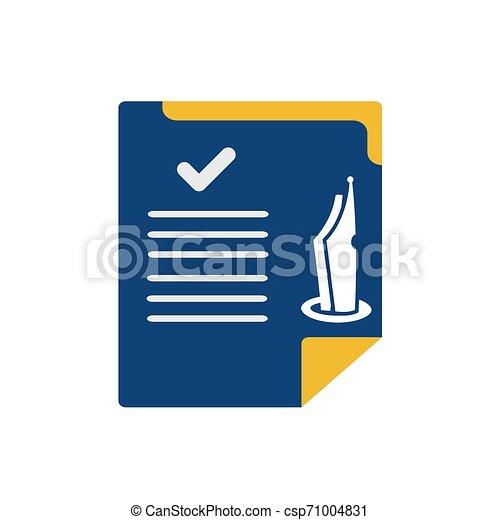 simple memo and pen button application icon and logo vector - csp71004831