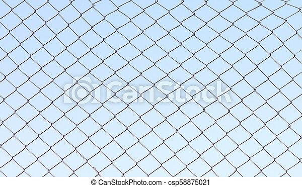Simple metal fence - csp58875021