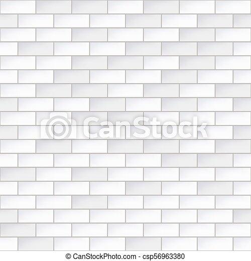 Simple, Modèle, Seamless, Mur, Brique Blanche