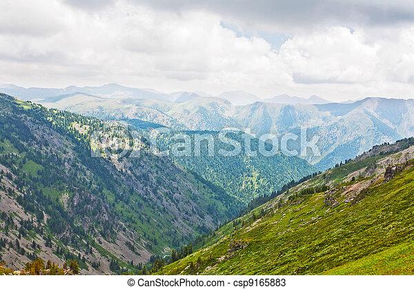 Simple mountains landscape. Altai, Siberia - csp9165883