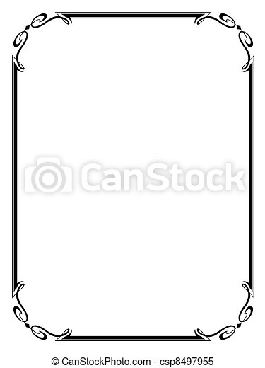 simple ornamental decorative frame - csp8497955