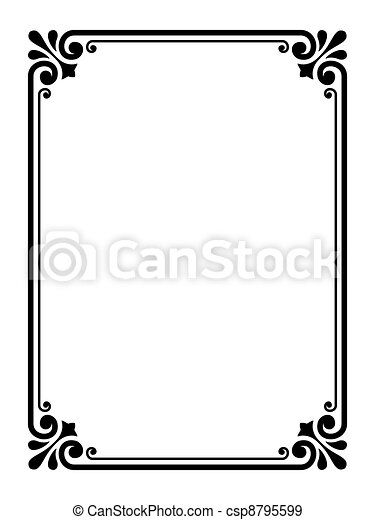 simple ornamental decorative frame vector simple calligraph eps rh canstockphoto com frame vectors photoshop frame vectors photoshop