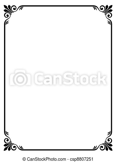 simple ornamental decorative frame - csp8807251