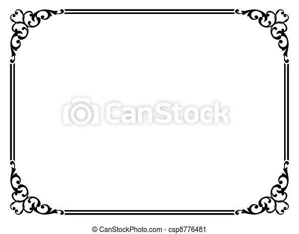 Un simple marco ornamental decorativo - csp8776481