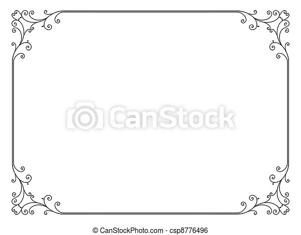 Un simple marco ornamental decorativo - csp8776496