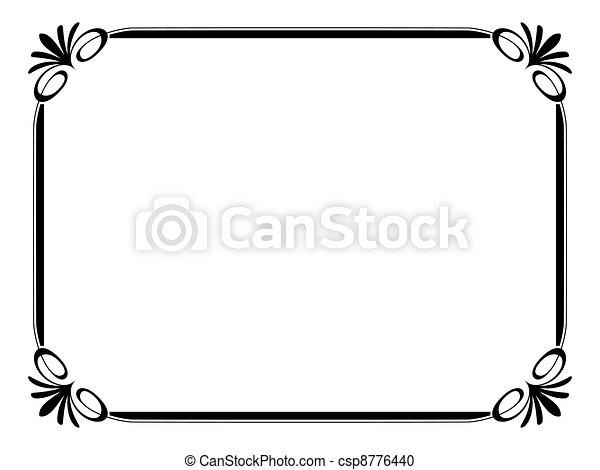 Un simple marco ornamental decorativo - csp8776440