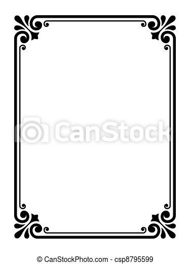 Un simple marco ornamental decorativo - csp8795599