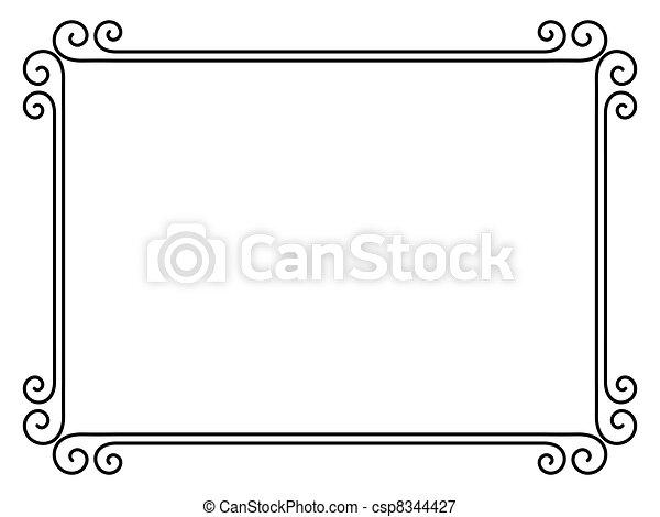 Un simple marco decorativo ornamental - csp8344427