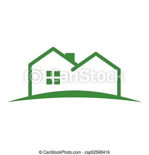 Simple Outline House Land