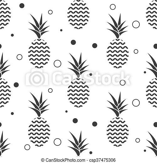 Simple Pattern Seamless Textile Arrière Plan Vetor Ananas