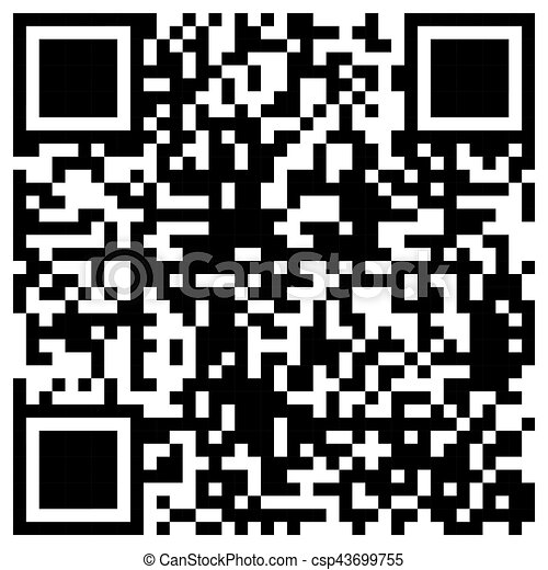 Simple QR Code bar template for private and commercial use - csp43699755